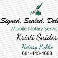 Notary Public in Morgantown, West Virginia 26505, Kristi Snider