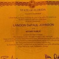 Notary Public in Jacksonville, Florida 32205, Landon Johnson