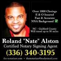 Notary Public in Greensboro, North Carolina 27410, Roland Alston