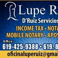 Notary Public in Chula Vista, California 91911, Guadalupe Ruiz