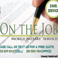 Notary Public in houston, Texas 77014, On the JOB MOBILE NOTARY