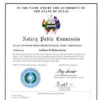 Notary Public in Houston, Texas 77027, Arthur Robertson